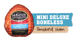 mini deluxe boneless maple ham