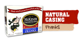natural casing franks box