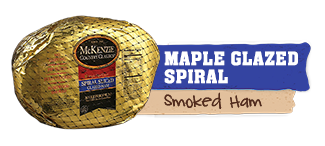 spiral maple glazed ham